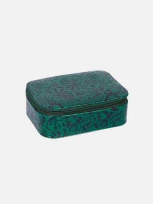 Green Painted Leather Jewellery Box