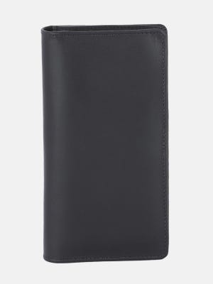 Black Leather Wallet with Mobile Holder