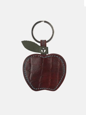 Maroon Leather Key Ring
