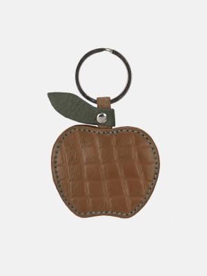 Light Brown Leather Key Ring
