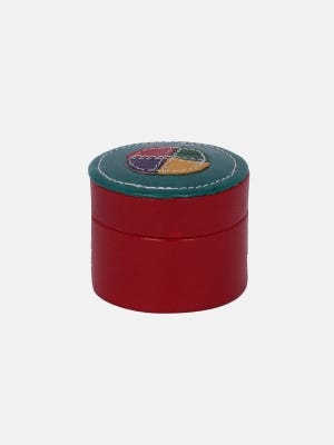 Red  Leather Ring Box