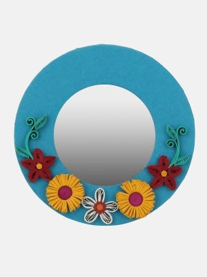 Recycled Handmade Paper Mirror