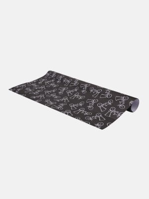 Black Printed Wrapping Paper