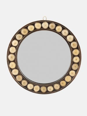 Wood Framed and Studded Mirror