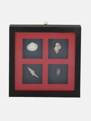 Shell and Wood Framed Wall Hanging