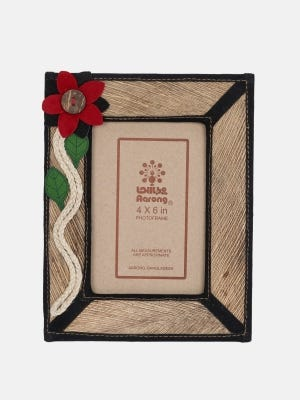 Beige Faux Leather Photo Frame