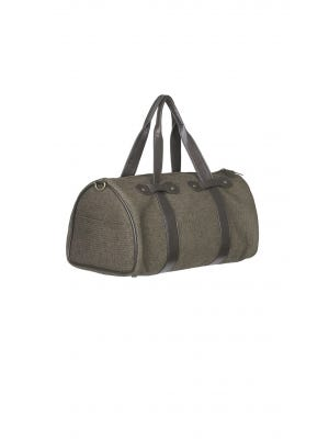 Brown Fabric Travelling Bag - Small