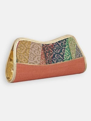 Jute Embroidered Purse