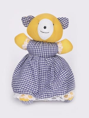 Blue and White Check Frock Doll