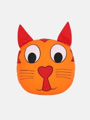Soft Stuffed Cat Cushion