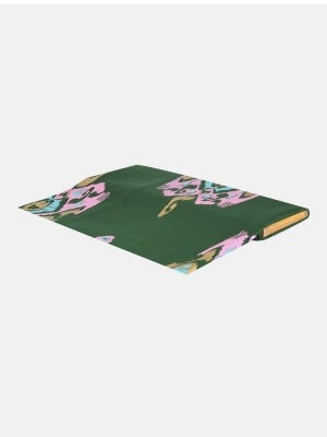 Green Printed Voile Fabric Piece