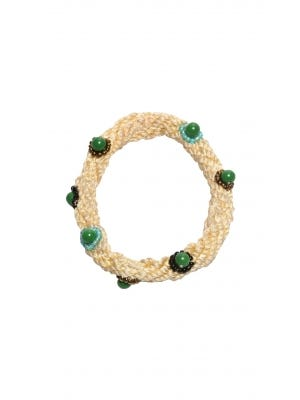 Ivory Thread and Pearl Bangle