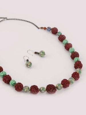 Rudraksha Necklace Set