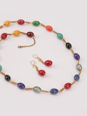 Beaded Stubbed Necklace Set