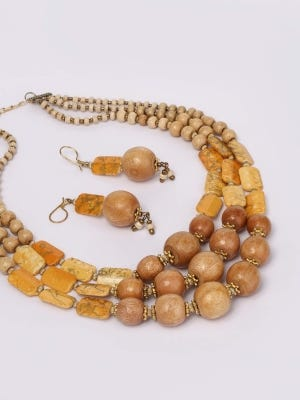 Wooden Necklace Set