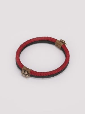 Black and Red Thread Bangle