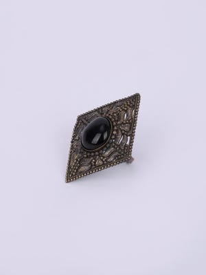 Simulated Stone Studded Brass Finger Ring