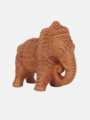 Brown Clay Elephant