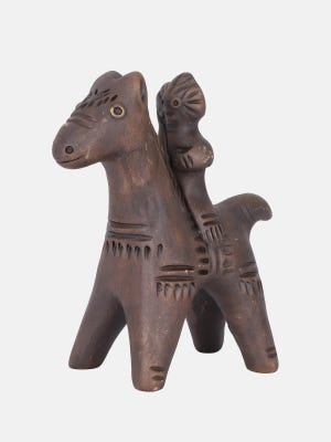 Clay Horse with Rider