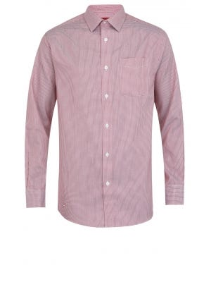 Red Patterned Executive Premium Classic Fit Cotton Shirt