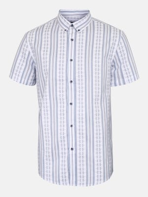 White Slim Fit Casual Modern Cotton Shirt
