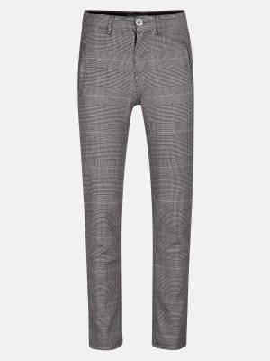 Blue-Grey Slim Fit Cotton Chino Trouser