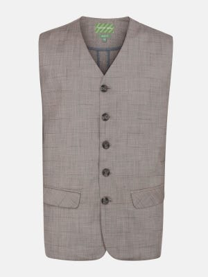 Red Slim Fit Cotton Waistcoat