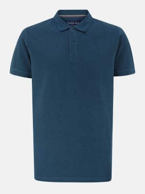 Deep Teal Classic Fit Cotton Polo Shirt