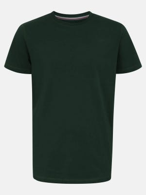 Bottle Green Classic Fit Printed Cotton T-Shirt