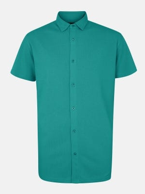 Teal Classic Fit Cotton Polo Shirt