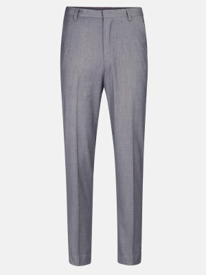Grey Classic Fit Cotton Formal Trouser
