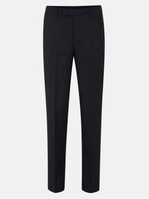 Classic Fit Polyester-Viscose Formal Trousers