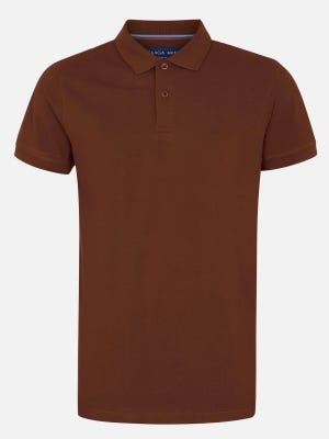 Brown Cotton Classic Fit Polo Shirt