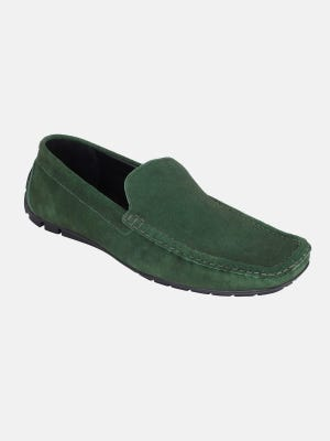 Moss Green Suede Leather Loafer