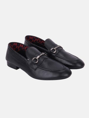 Black Leather Casual Loafer