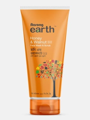Aarong Earth Honey & Walnut 2-in-1  Face Wash & Scrub